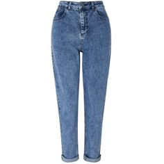 Miss Selfridge Dark Acid Wash MOM Jeans (3,290 DOP) ❤ liked on Polyvore featuring jeans, pants, bottoms, indigo, blue skinny jeans, indigo blue jeans, indigo jeans, dark-wash jeans and dark indigo jeans