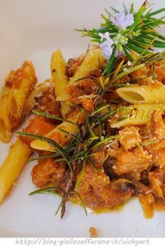 Penne con zucca rosmarino e noci ricetta facile vickyart arte in cucina