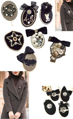 Brooch with Charms Buttons Pin Lapel Trendy Jacket Pendant Eiffel Tower Number 5 Camellia Style Casual Women Gift For Her Wedding Birthday