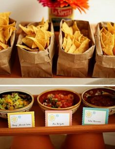 Chips & Salsa buffet table                                                                                                                                                                                 More