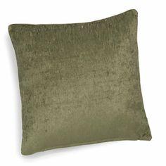 VINTAGE VELVET LIANE velvet cushion in green 45 x 45cm
