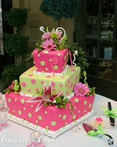 Whimsical Birthday Cake One day ill get this good, should check out baking classes I really enjoy it!