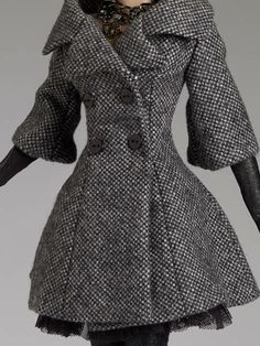 Doll Coat - City Tweed pinned from Tyler Wentworth, our 2013 FallReleasedollchat $219.99