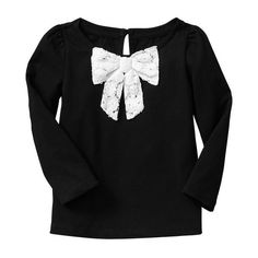 Gap Lace Bow Top (125 NOK) ❤ liked on Polyvore featuring kids, baby girl clothes, girl clothes and girls