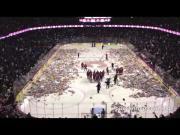 #Calgary #Hockey Fans Throw #Teddy #Bears On The Ice - #Charity #amazing