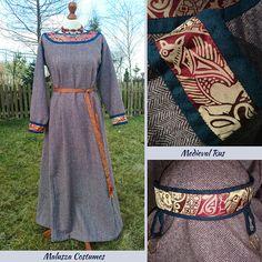 Medieval Rus set, XII-XIII Dress and ochelye  Zestaw - średniowiecza Ruś XII-XIII Sukienka i ochelye