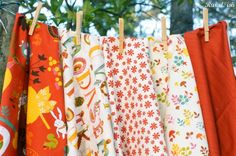 Wee Woodland for baby rag quilt