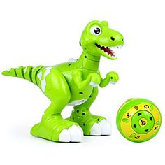 Luckylin Remote Control Robot Dinosaur Wireless RC Interactive Toys Spray, Senses Gesture, Sing, Dance for Boys Girls Kids Children's Day (Green) >>> See this great product. (This is an affiliate link) Robot Dinosaur, Dinosaur Stuffed Animal, Anti Bark Collar, Kids Electronics, Interactive Toys, Child Day, Large Dogs, Dog Training, Behavior