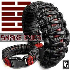 Snake Paracord Bracelet | Snake Eyes themed paracord bracelet, available at www.paragearz.com.