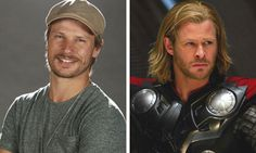 Rodrigo Hilbert e Chris Hemsworth