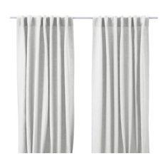 AINA Pair of curtains - white - IKEA