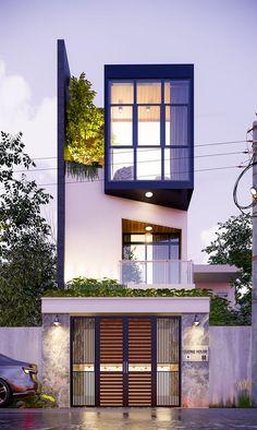 Architecture Building Design, Brick Architecture, Minimalist Architecture, Facade Design, Residential Architecture, Small House Exteriors, Modern Exterior House Designs, Modern House Design, Exterior Design