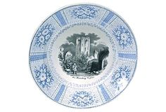 Castle Ruins Scene Transferware Plate on OneKingsLane.com Vintage-have not seen pattern before..love