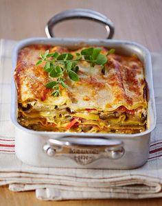 Lasagna with sun vegetables, Veggie Pasta Recipes, Keto Shrimp Recipes, Zucchini Noodle Recipes, Zucchini Noodles, Baked Vegetables, Veggies, Pasta Tomate, Ricotta, Canned Blueberries