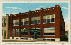 Office Building of at the City Water and Light Plant in Jonesboro Arkansas State Archives G938.01