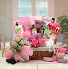Who doesn't love a luxurious spa gift? Send the Sweet Blooms Spa Gift Basket to someone special. This extravagant collection of deluxe spa products refreshes the body and mind with an aromatic blend o