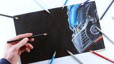 Pencil color drawing of Optimus Prime with left (opposite) hand. Art Attack Ideas, Transformers Drawing, Hand Drawings, Speed Art, Crayon Art, Color Pencil Art, Hand Art, Optimus Prime, Marker Art