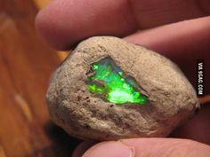Green Opal in its natural habitat looks like kryptonite