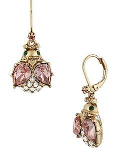 CRYSTAL BUG DROP EARRING MULTI accessories jewelry earrings fashion