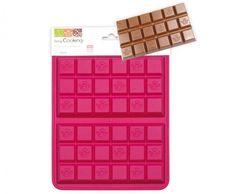 Molde con forma de tableta de chocolate