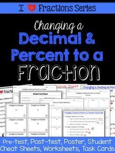 Decimals and Percents as Fractions