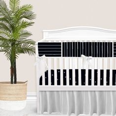 For our modern + minimal momma's out there. This Black modern nursery look is complete with hand drawn stripes + coordinating Swiss cross pattern. We love how this look is modern and simple - leaving all the room for the baby to shine. Available in (9) color ways. Baby Boy Bedding Sets, Custom Baby Bedding, Baby Girl Crib Bedding, Baby Cribs, Vintage Crib, Crib Rail Cover, Thing 1, Gender Neutral, Bump