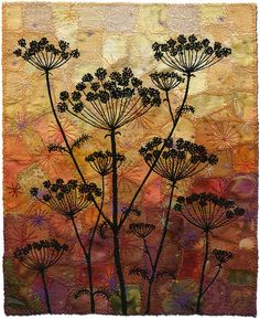 Umbels by Kirsten's Fabric Art, via Flickr