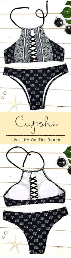 This bikini is stunning! Short shipping time for hot days! It is perfect for the beach and a total stand out piece in the coming summer. More new swimsuits at Cupshe.com !