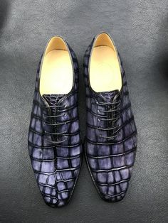 Made-to-order alligator leather shoes from BRUCEGAO