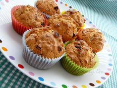 Müsli muffiny Healthy Muffins, Cupcakes, Breakfast, Food, Basket, Morning Coffee, Healthy Cupcakes, Meal, Cupcake