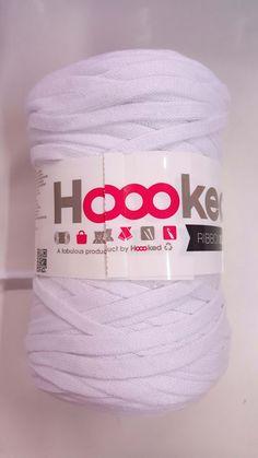Biela špagetová vlna Ribbon XL (Hoooked)