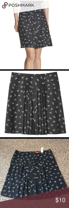 dd034212a NWT Joe Fresh Pleated Skirt Pleated skirt from Joe Fresh with the cutest zebra  pattern!