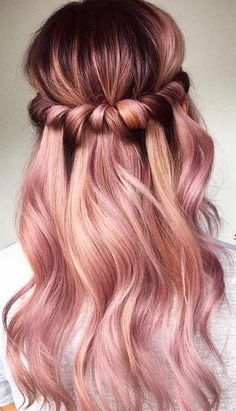 76 Rose Gold Hair Color Ideas