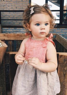 Beautiful Handmade Linen Baby Toddler Dress | Etsy #KidsFashion