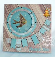 "nautical ""see-thru"" card by Rita Edwards.... inside is as pretty with glittered fish... see in post"