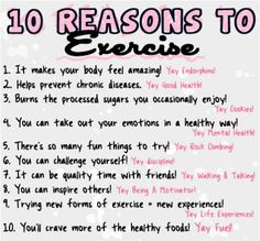 10 reasons to exercise