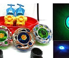 4-BIG-Metal-Beyblades-with-LED-Lights-4-Launchers-1-BIG-STADIUM-2-Spring-Action-Launchers-Sunshine-Exclusive-0
