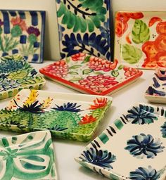 Pottery Painting, Ceramic Painting, Mexican Paintings, Pottery Videos, Alcohol Ink Painting, Hand Painted Ceramics, Pottery Barn, Clay, Deco