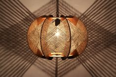 Handcrafted Wood Light by LuxAndWatts $175