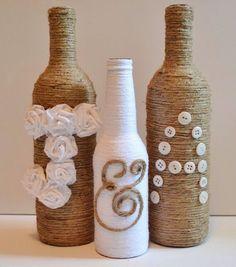 Yarn Covered Bottles #Various #Trusper #Tip