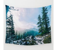 Wall Tapestry Tree Tapestry Wall Hanging Mountain di StayWildCo