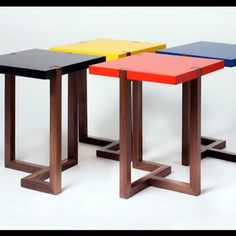 #hugopassos #mondrian #inspired #lustable end tables by UK designer Hugo Passos