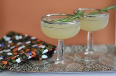 Sparkling Rosemary & Pear Cocktail