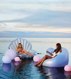 Calling all mermaids! It's time to float through summer in style with these pool floats from Frontgate. Would you rather emerge from an oyster shell like a daughter of Triton or kick your feet up i…