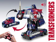 Nikko RC Autobot Optimus Prime Converting Robot - Changes from Vehicle to Robot with 1 push of a button! Remote controlled and full function on both vehicle and robot mode! With light and sound effects + Tri-Band transmitter.