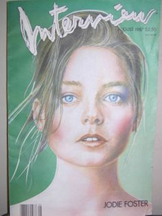 Jodie Foster Interview Magazine Cover in 1987. #beauty