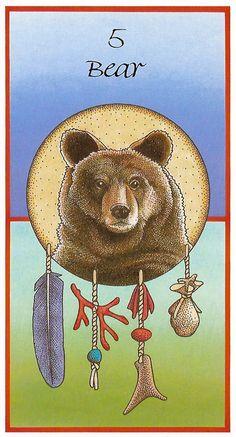 Bear medicine. From the Medicine Cards.