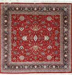 New Contemporary Persian Kashan Area Rug 58882 This Beautiful Handmade Knotted Square