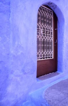 Blue wall, Rhodes old town, Greece Greek Blue, Go Greek, Wonderful Places, Great Places, Beautiful Places, Old Doors, Windows And Doors, Greece Rhodes, Paint Your House