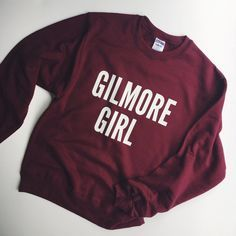 Gilmore Girl Sweatshirt enjoy this fun style any way you like. wear it oversized over your fave jeans or small and snug tucked into your sweet outfit. style it up and wear it your way. choose from a variety of super Gilmore Girls Merchandise, Gilmore Girls Sweatshirt, Looks Style, My Style, Glimore Girls, Fru Fru, Screen Printing Shirts, Rory Gilmore, Mode Inspiration